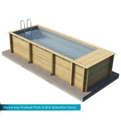 Piscina de madera maciza Pool'n Box