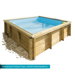 Piscina de madera maciza Tropic Junior