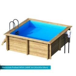 Piscina de madera maciza Weva Square 3x3