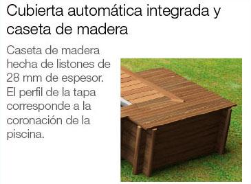 Opción caseta de madera